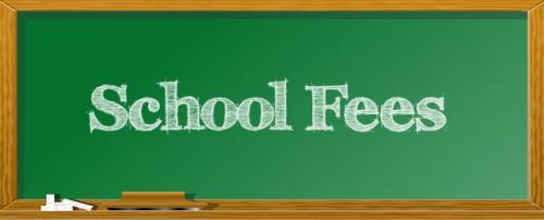 Chalkboard with School Fees
