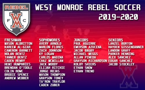 2019-2020 Rebel Soccer Tryout Results
