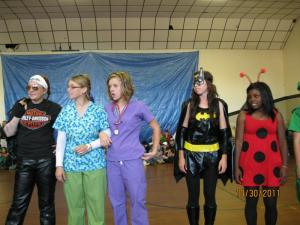 Biker Lady, Medical Staff, Batgirl, and a Ladybug :)