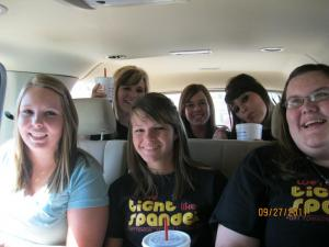 Front - Samantha, Jacey, Haley; Back - Ashley Darianne, Amber