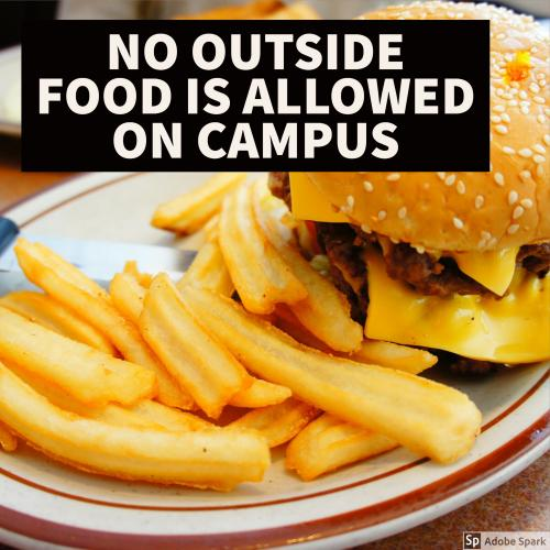 NO OUTSIDE FOOD
