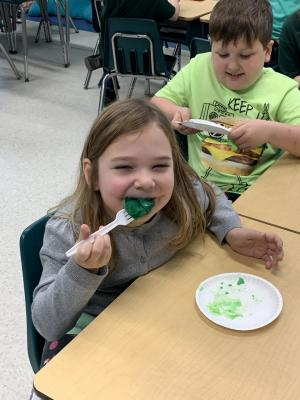 Mrs. Southern's students enjoyed green eggs and ham during Read Across America Week! What fun!!