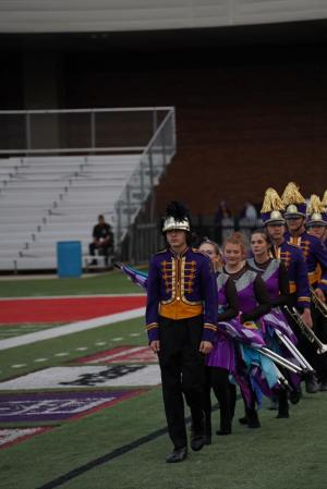 LHS Marching Band at the Regional Marching Contest in Fort Smith.
