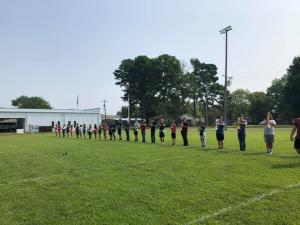 he LHS Marching Band members are working hard in preparation for the 2021 football season's halftime show