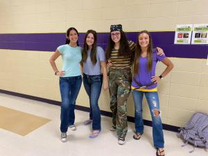 LHS students ended the week celebrating the decades and pumping up for the game with a pep rally!