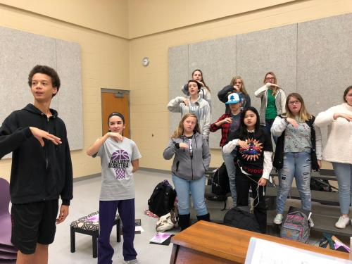High School Choir using Solfege 1