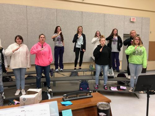 High School Choir using Solfege 2