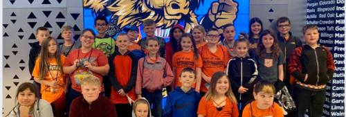 4th Grade Students at the Thunder Game