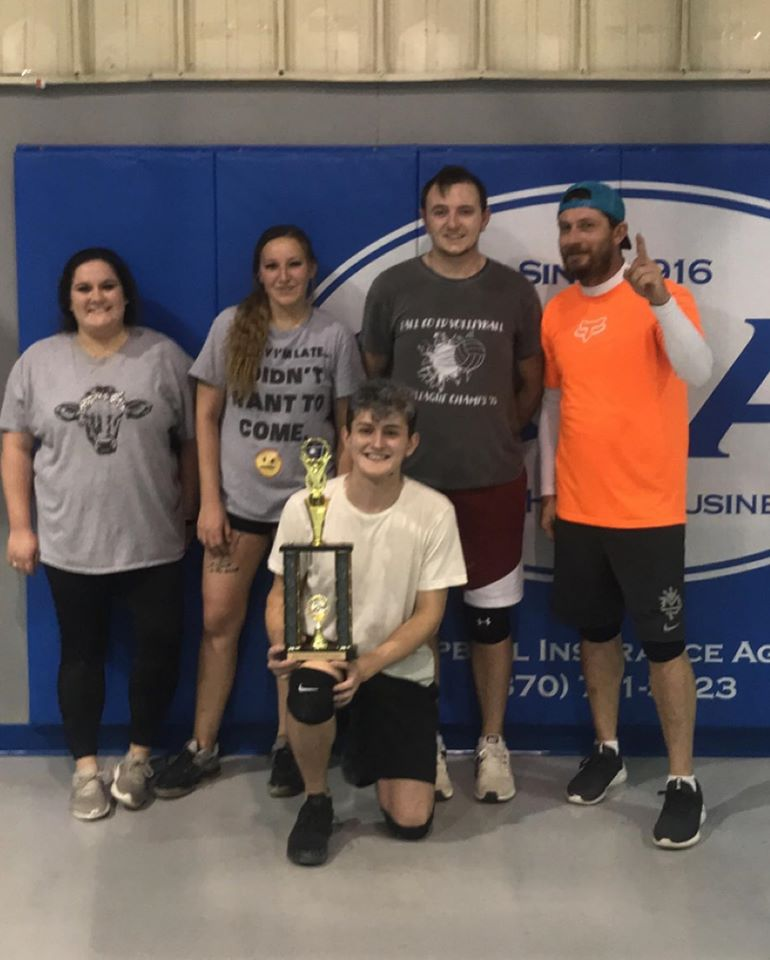 CoEd Volleyball Runner up Arm & Hammer
