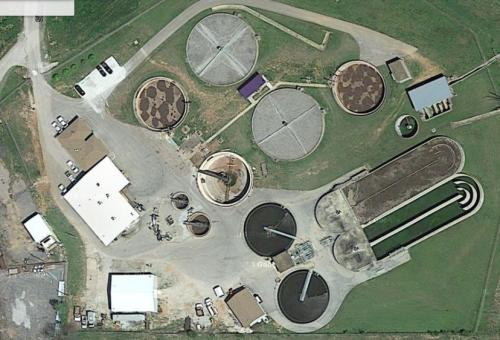 Aerial Photo of WWTP