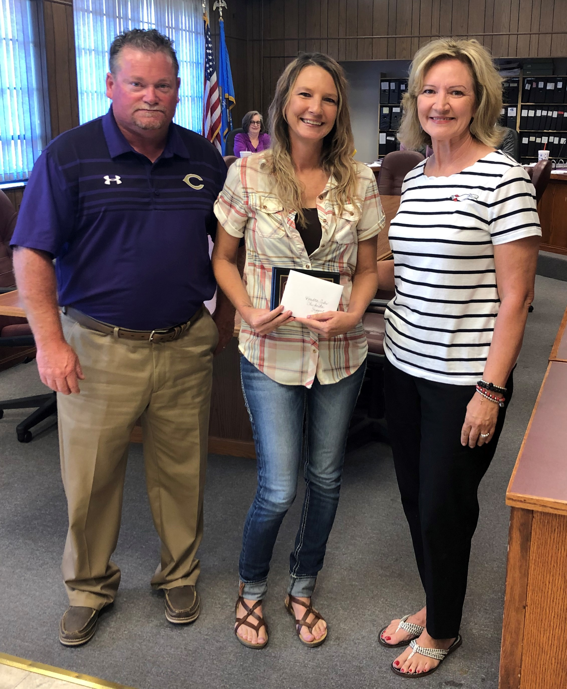 Chicken Express Support Employee of the Month for September- Kendra Curtis