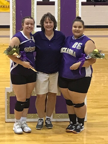 Senior Lady Volleyball with Coach Waters!!!