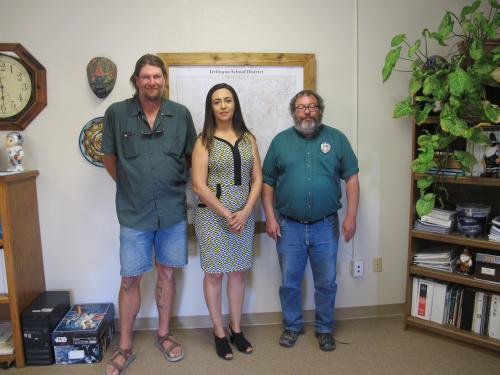 TCSD Board of Trustees: Travis Jenks, Noemi Aviles, Scott Watkins