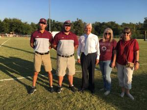 Evant Football Game with Congressman Williams
