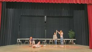 Theater Students Having Some Fun