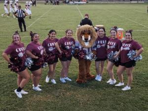 Cheerleaders at Evant Football Game