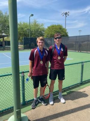 Marcus and Aiden - Boy's Doubles District Champion