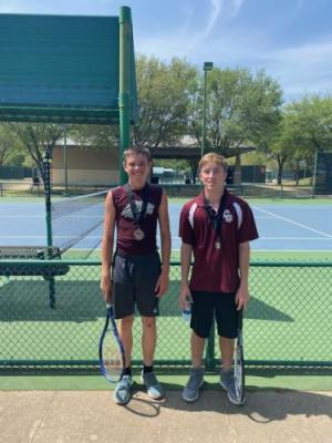 Blake and Cason - Boy's Doubles 3rd Place