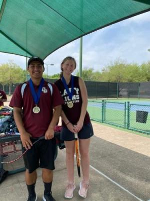 Cruz and Teryn - Mixed Doubles District Champion