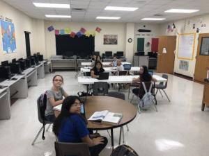 Students Working in Classrooms