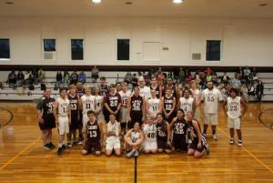 Group Photo of the Maroon and White Basketball Players
