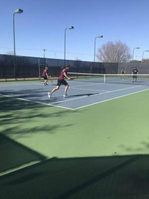Boys Playing Doubles