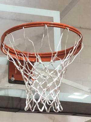 New Basketball Goals in Gym