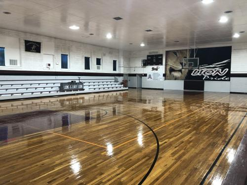 Cranfills Gap ISD Basketball Court