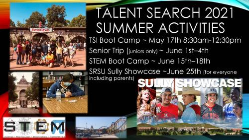 Talent Search 2021 Summer Activities