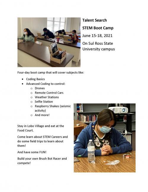 STEM Boot Camp Flyer