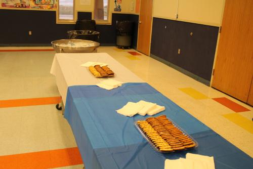 Refreshment Table setup for parents for PTO