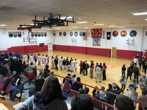 High school boys basketball vs. Fairview
