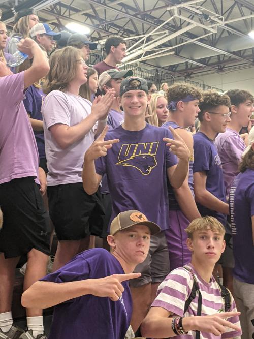 Student Section in Purple for VB