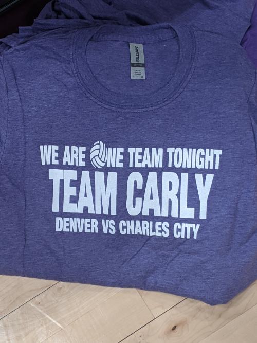 Team Carly Purple Tshirt