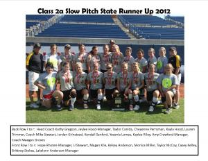 2012 Slow Pitch Runner Up