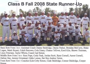 2008 State Runner Up