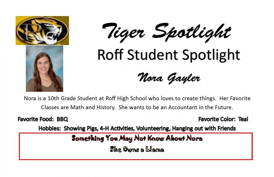 Nora Gayler Student Spotlight