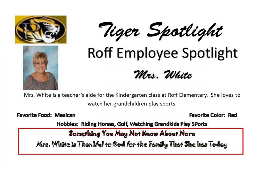 Mrs. White Employee Spotlight