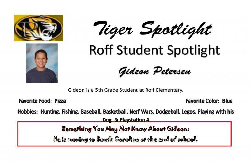 Gideon Student Spotlight
