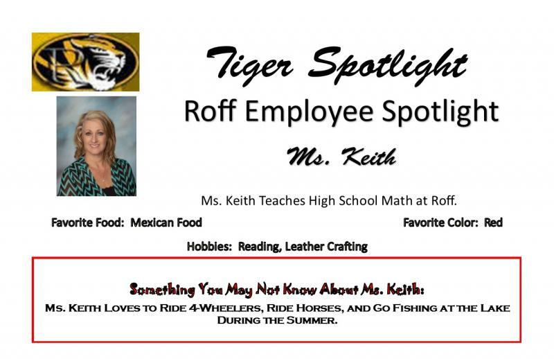 Ms. Keith Teacher Spotlight