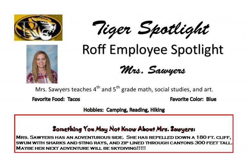 Mrs. Sawyers Student Spotlight