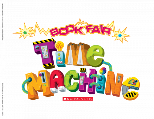 Scholastic time machine graphic for book fair.