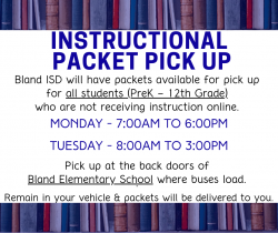 Instructional Packet Pick Up