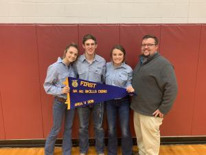 2018 Area Skills Demonstration 1st Place