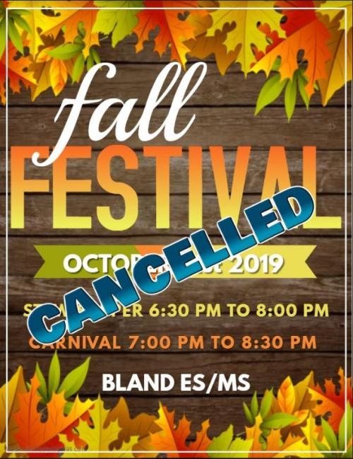 Cancelled Fall Festival