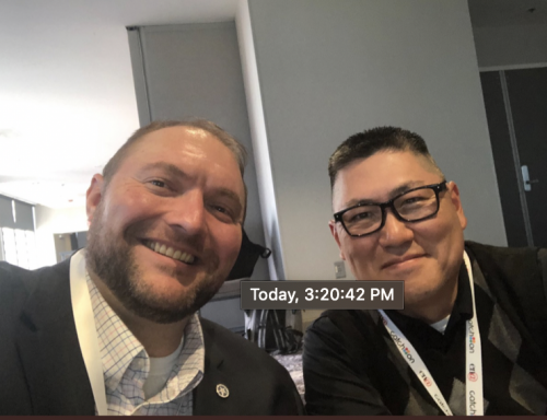 Jack Green and Jun Kim at the Annual CoSN Conference