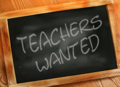 teachers wanted chalkboard