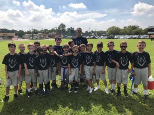 Elementary boys football team