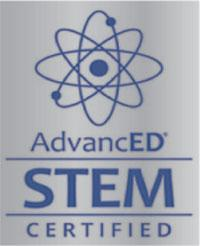 S.T.E.M. logo denoting official certification in Science, Technology, Engineering, and Math