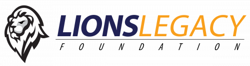 Logo of Lions Legacy Foundation - Picture of lion head facing left with the words Lions Legacy Foundation